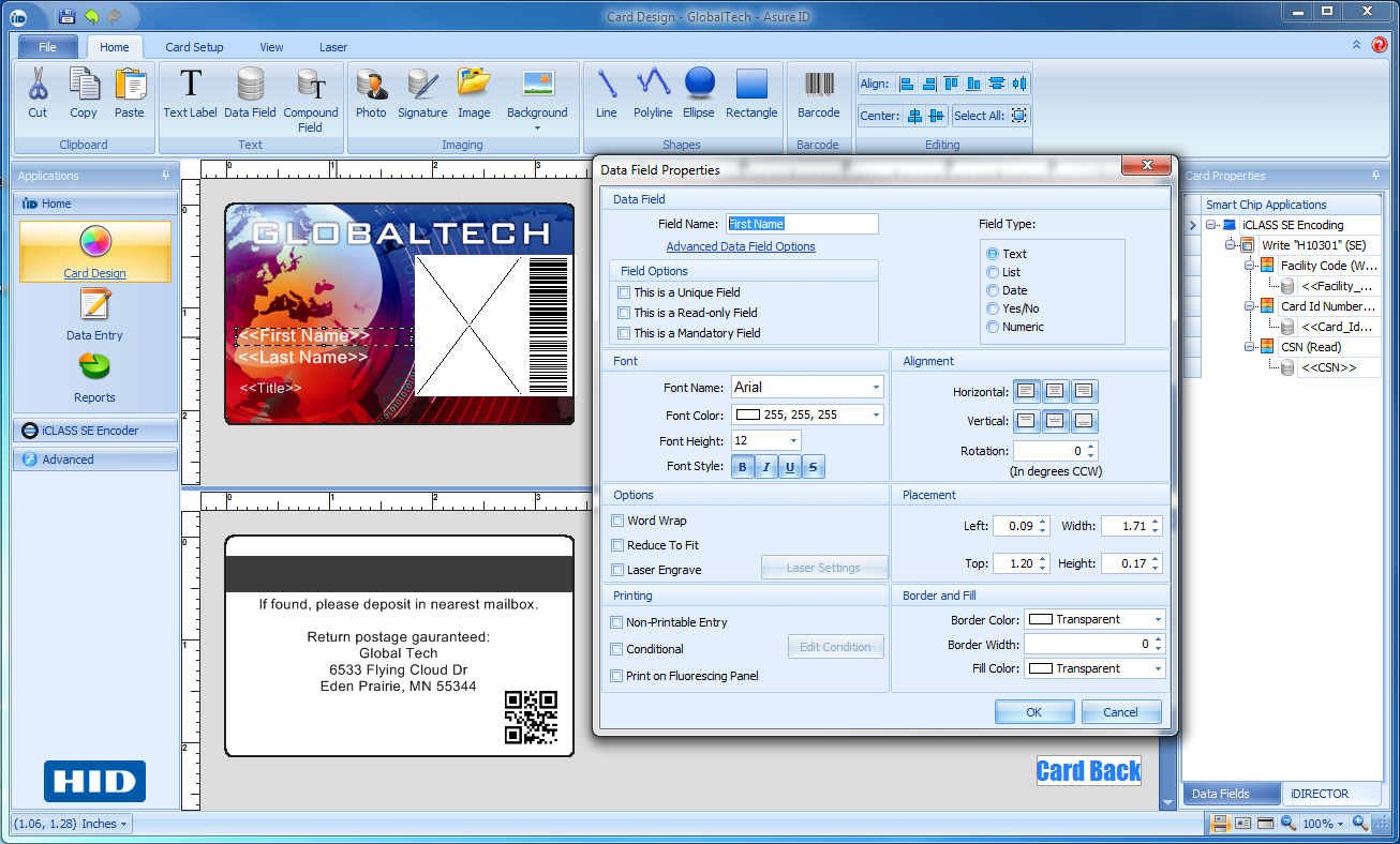 asure id templates - asure id solo card personalization software photo id