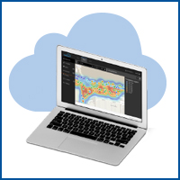 HID's Bluzone™ Cloud on laptop