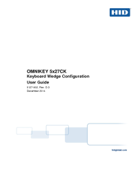 OMNIKEY 5x27CK Keyboard Wedge Configuration User Guide Version D.3
