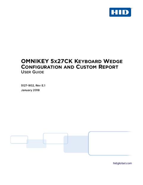 OMNIKEY 5x27CK Keyboard Wedge, Custom Report and