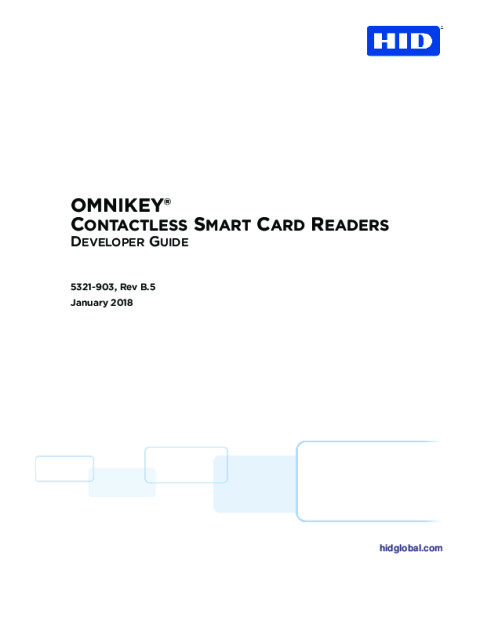 OMNIKEY Contactless Smart Card Readers Developer Guide