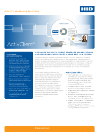 ActivID ActivClient Security Software Datasheet