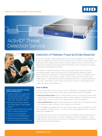 ActivID Threat Detection Service Brochure