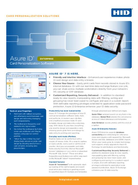 Asure ID® Enterprise Card Personalization Software