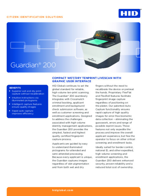 Guardian 200 Datasheet