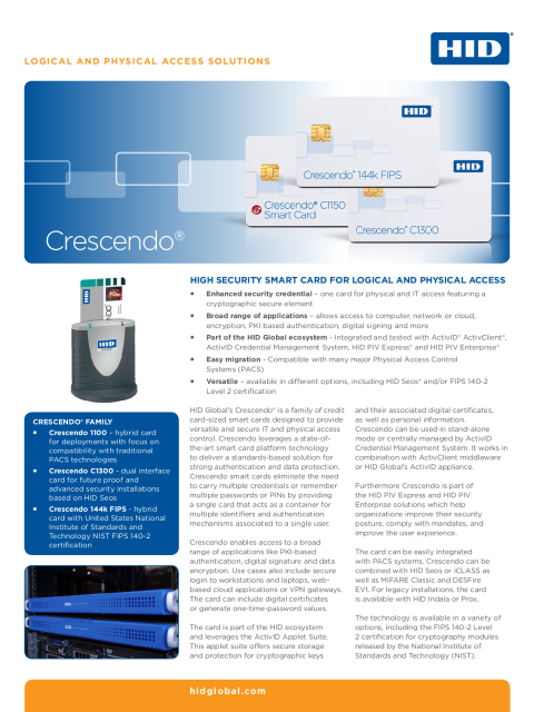 Crescendo Smart Card Datasheet