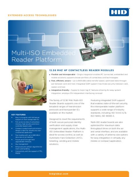 Multi-ISO Embedded Reader Platform Datasheet
