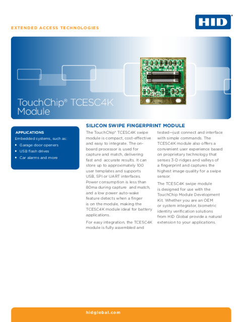 ToucChip TCESC4K Module Datasheet