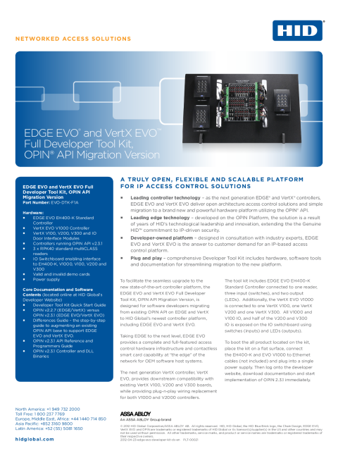 EDGE EVO Developer Kit Datasheet