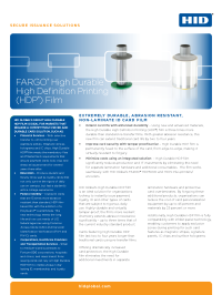 FARGO High Durable HDP Film Datasheet
