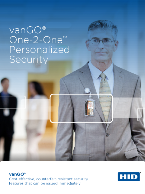 vanGO One-2-One Personalized Security Brochure