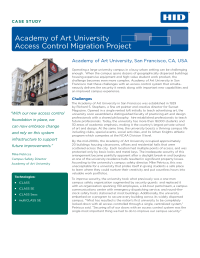 Academy of Art University  Access Control Migration Project Case Study