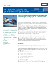 Australian Customs and Border Protection Services Case Study