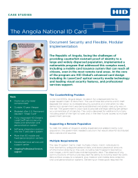 Angola National ID Card Case Study