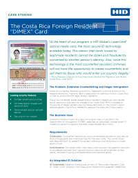 Costa Rica Foreign Resident DIMEX Card Case Study