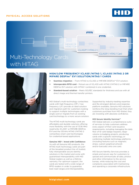 Multi-Technology Cards with HITAG