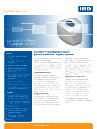 Lumidigm V-Series Fingerprint Sensors Datasheet