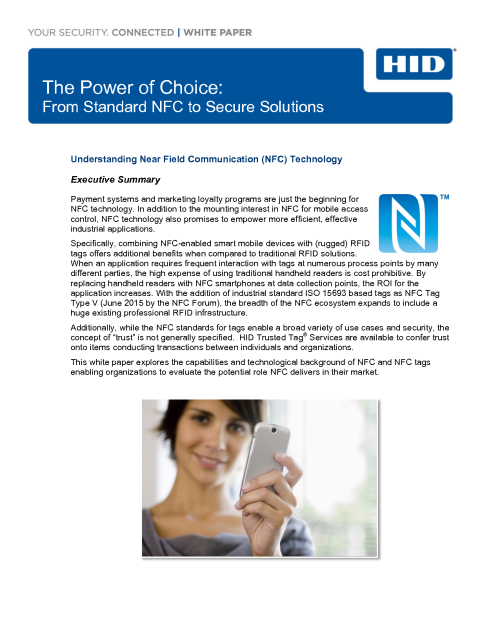 NFC Tags and solutions White paper