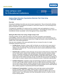 One Campus Card for Education Institutions White Paper