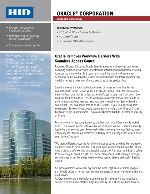 Oracle Corporation Case Study