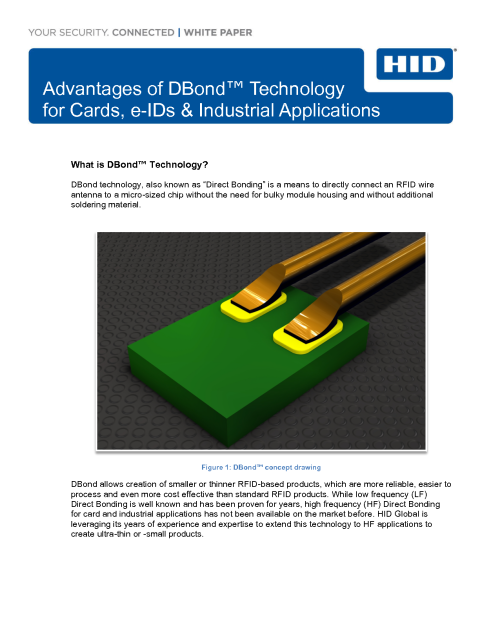 Advantages of DBond™ Technology  for Cards, e-IDs & Industrial Applications White Paper