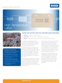 High-Temperature Label Datasheet