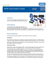 RFID Tag Fixation Whitepaper