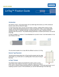 LinTag Fixation Guide White Paper