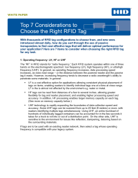 Top 7 Considerations to Choose the Right RFID Tag Whitepaper