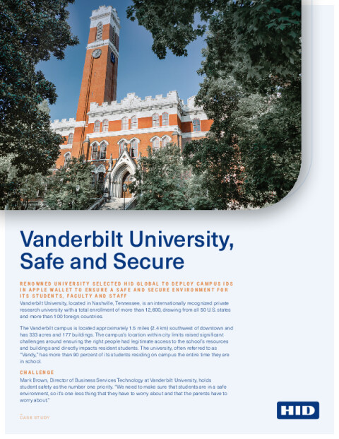 Case Study: Vanderbilt University, Safe and Secure