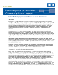 The Convergence of IT Security and Physical Access Control White Paper