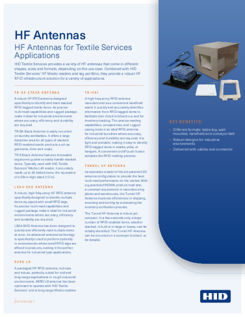 HF Antennas for Textile Services Datasheet