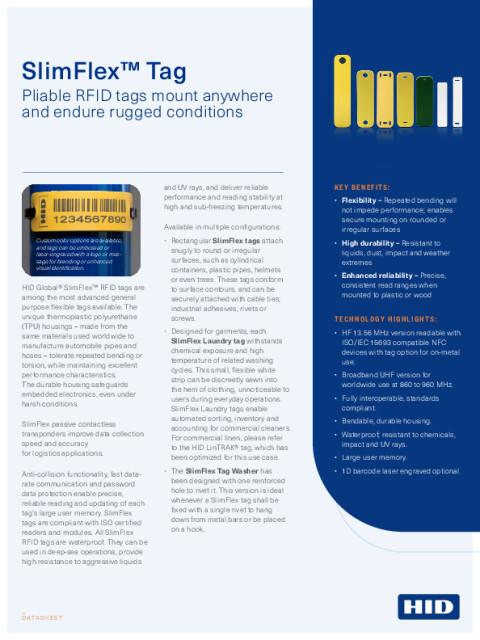 SlimFlex™ Tag Datasheet