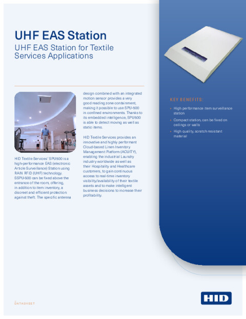 UHF EAS Station for Textile Services Datasheet