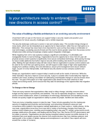 Is Your Architecture Ready to Embrace New Directions in Access Control?