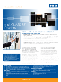 multiCLASS SE Reader Datasheet