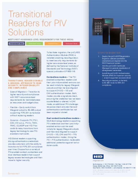 pivCLASS Transitional Readers Datasheet