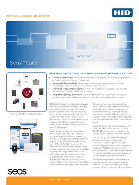 Seos™ Card Datasheet