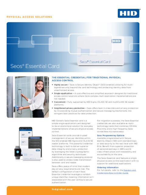 Seos® Essential Card Datasheet