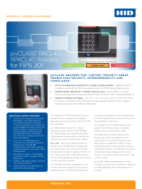 pivCLASS FIPS Limited Readers Datasheet