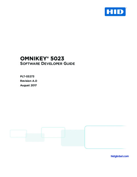 OMNIKEY 5023 Software Developer Guide