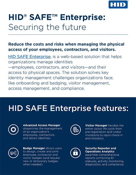 Infographic: HID SAFE Enterprise - Securing the Future