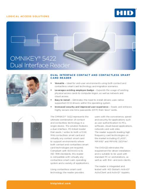 OMNIKEY® 5422 Dual Interface Reader