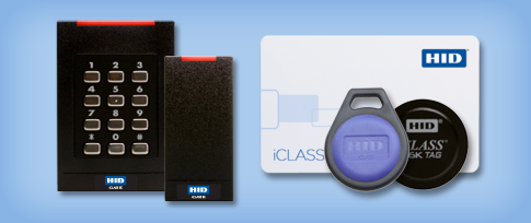 HID access control readers and credentials