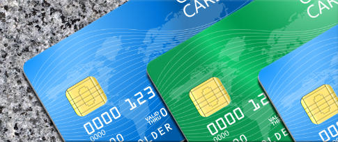 colorful credit and debit cards