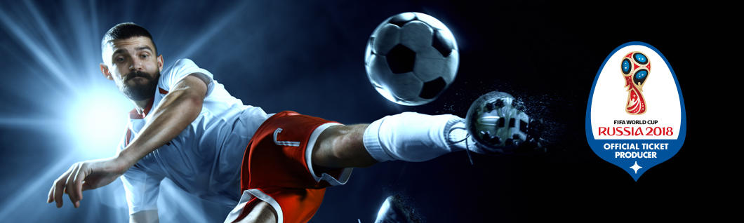 Soccer player and FIFA 2018 logo
