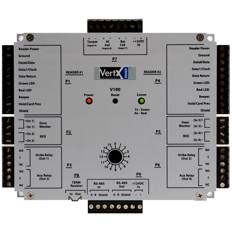 v100_0 hid� v100 door reader interface hid global HID Ballast Schematic at bakdesigns.co